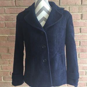 Talbots Navy Blue Wool Pea Coat Blazer 8P